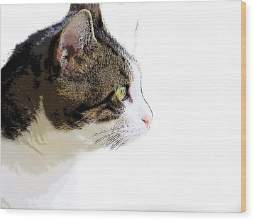 My Cat Wood Print