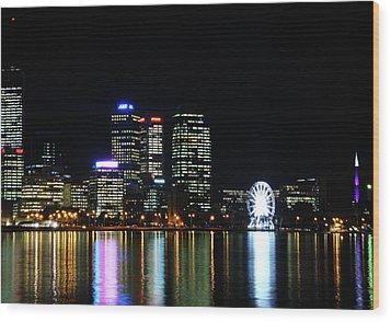 My City  Perth Wood Print by Kelly Jones