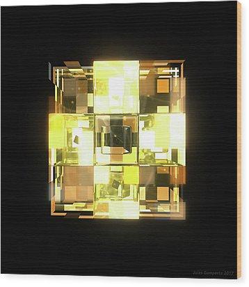 My Cubed Mind - Frame 001 Wood Print