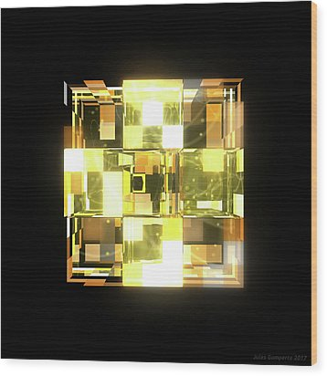 My Cubed Mind - Frame 019 Wood Print
