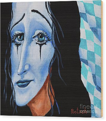 Wood Print featuring the painting My Dearest Friend Pierrot by Igor Postash