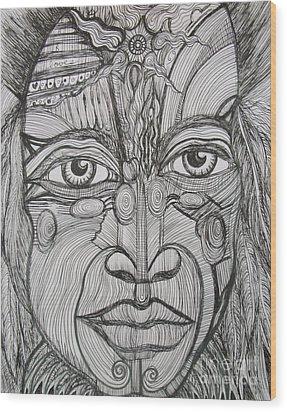 My Eyes Speak The Truth Wood Print by Anita Wexler