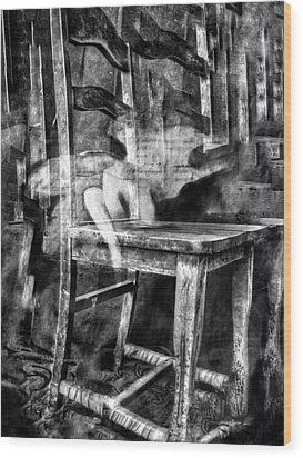 My Favorite Chair 2 Wood Print