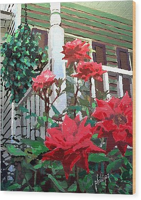 Wood Print featuring the painting My Favorite Corner by Jim Phillips