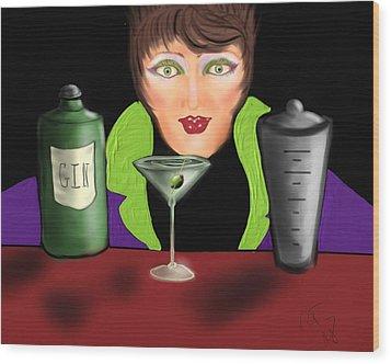My Favorite Drink Wood Print by Ronald Terrel