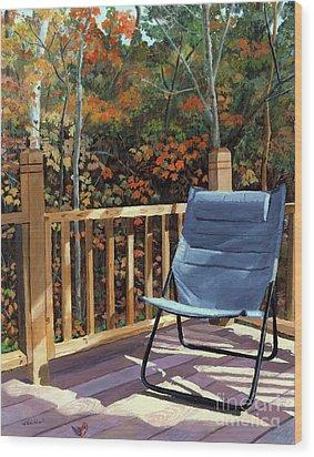 My Favorite Spot Wood Print by Lynne Reichhart