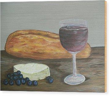 Wood Print featuring the painting My Favorite Things by Debbie Baker