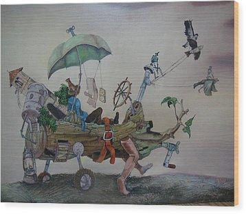 My Favorite Toy Wood Print by Carlos Rodriguez Yorde