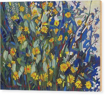 My Flower Bed Wood Print by Phil Chadwick