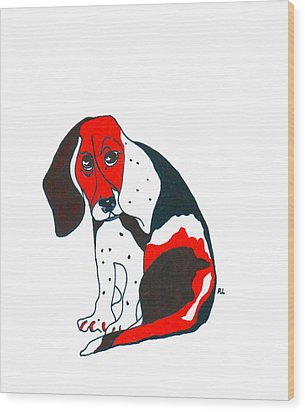 My Friend Bill Wood Print by Rachel Lowry
