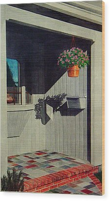 My Front Porch Wood Print by Ron Sylvia