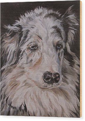 My Funny Valentine - Dog Portrait Wood Print by Cheryl Pass