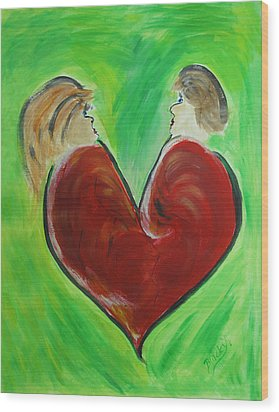 My Funny Valentine Wood Print by Donna Blackhall