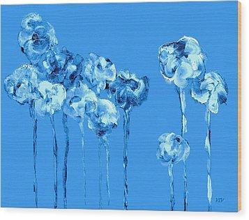My Garden - Blue Wood Print