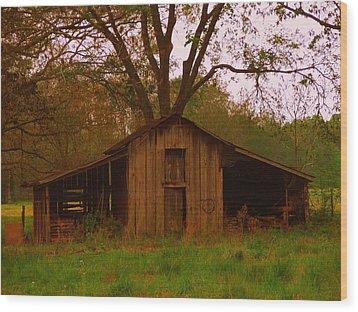 My Georgia Barn Wood Print by Judy  Waller