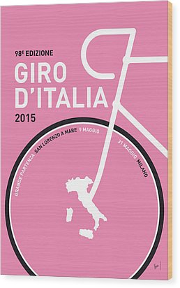 My Giro D'italia Minimal Poster 2015 Wood Print by Chungkong Art