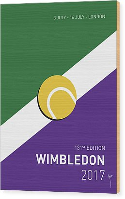 My Grand Slam 03 Wimbeldon Open 2017 Minimal Poster Wood Print by Chungkong Art