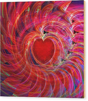 My Heart Is All A Flutter Wood Print by Michael Durst