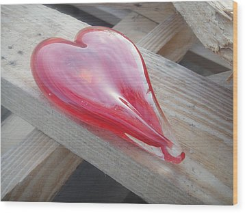 My Hearts On A Pile Of Wood Wood Print by WaLdEmAr BoRrErO