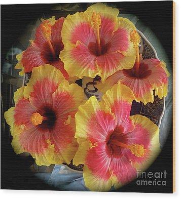 My Hibiscus Garden Wood Print