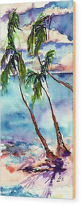 Wood Print featuring the painting My Island In The Sun by Ginette Callaway