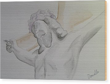 My Jesus Wood Print by Donielle Boal