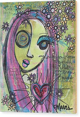 My Love For You Blooms Wood Print by Laurie Maves ART