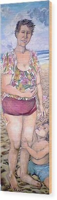 My Mother Had Picked Up Shells - Ma Mere Ramassait Des Coquillages Wood Print
