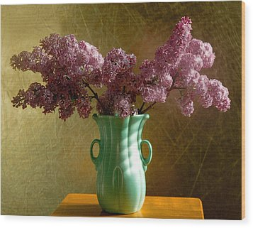 My Mother's Lilacs Wood Print by Wendy Blomseth