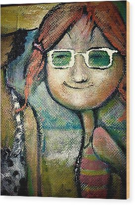 My New Shades Wood Print