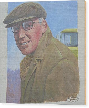 Wood Print featuring the painting My Old Boss 1965. by Mike Jeffries
