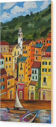 My Portofino Wood Print