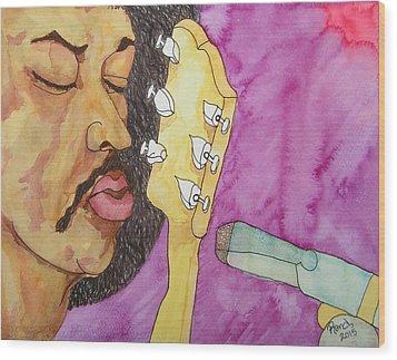 Purple Haze My Prayer Is In My Play Wood Print by Rand Swift