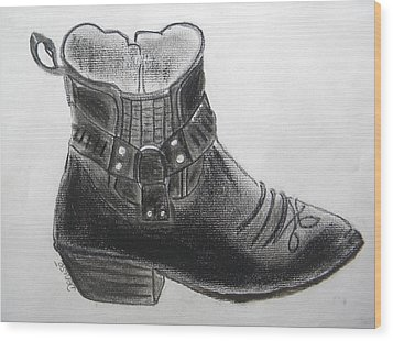 My Right Boot Wood Print