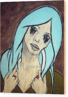 My Rings Have Secrets Too Wood Print by Chrissa Arazny