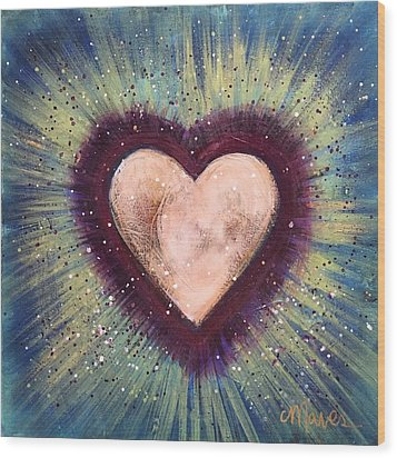 Wood Print featuring the painting My Royal Heart by Laurie Maves ART