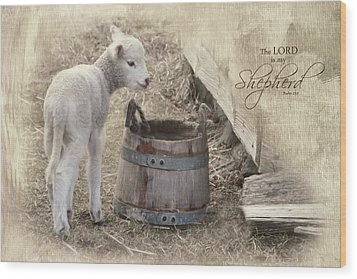 Wood Print featuring the photograph My Shepherd by Robin-Lee Vieira