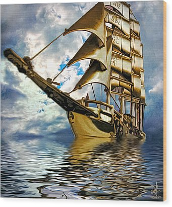 My Ship Comes In Wood Print by Pennie  McCracken