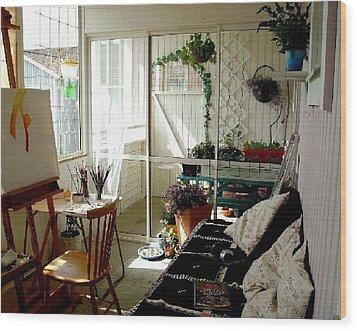 My Summer Studio Wood Print by Carola Ann-Margret Forsberg