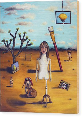 My Surreal Life Wood Print by Leah Saulnier The Painting Maniac