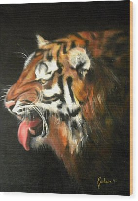 My Tiger - The Year Of The Tiger Wood Print by Jordana Sands
