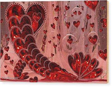 My Valentine Wood Print by Joy Gerow