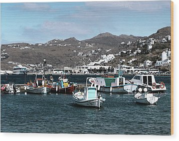 Wood Print featuring the photograph Mykonos Greece II by Tom Prendergast