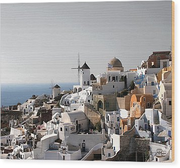 Mykonos Greece Wood Print by Jim Kuhlmann