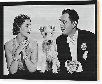 Myrna Loy Asta William Powell Publicity Photo The Thin Man 1936 Wood Print by David Lee Guss