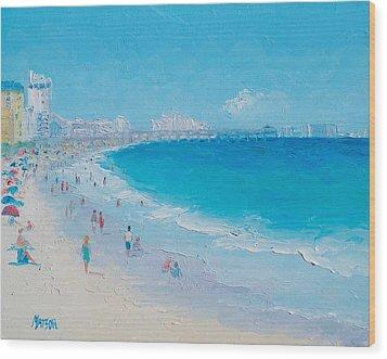 Myrtle Beach And Springmaid Pier Wood Print by Jan Matson