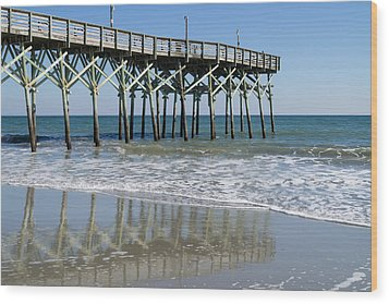 Myrtle Beach Pier Wood Print by MM Anderson