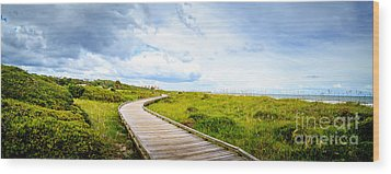 Myrtle Beach State Park Boardwalk Wood Print