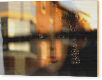 Mysterious Girl Wood Print by Jez C Self