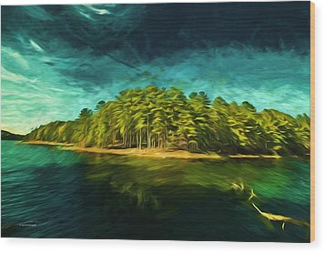 Mysterious Isle Wood Print by Dennis Baswell